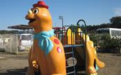 恐竜の複合遊具
